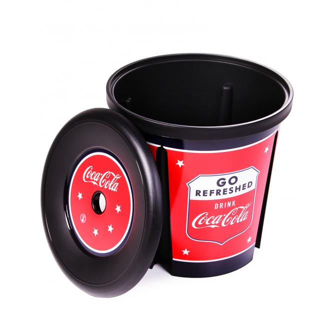 ONDIS24 Curver Coca Cola Aufbewahrungstonne Papierkorb