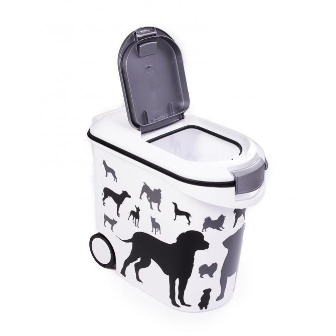 ONDIS24 Curver Futtercontainer Hunde Silhouette 35 L