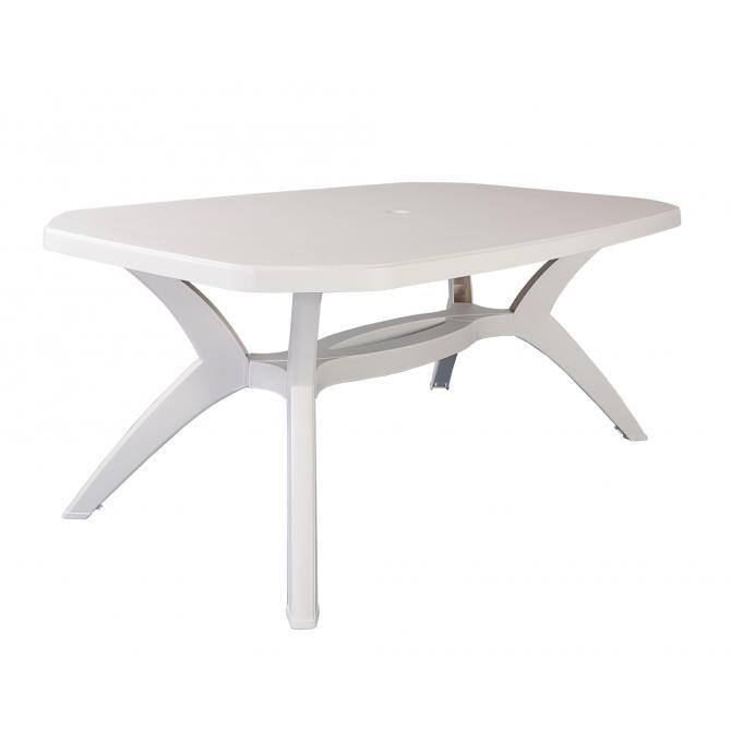ONDIS24 Gartentisch Ibiza 165x100 cm weiß