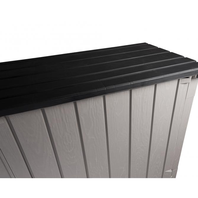 ONDIS24 Gartenbox Mülltonnenbox High Storer Light grau anthrazit