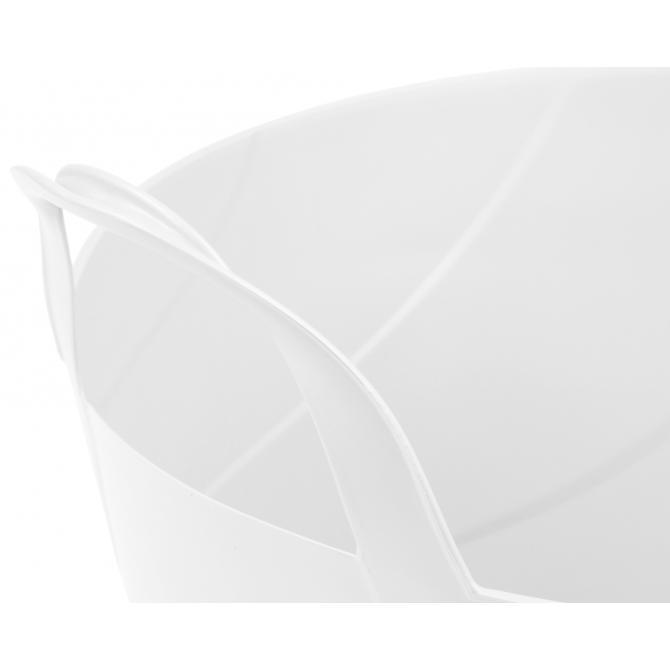 ONDIS24 Kleiderkorb Wäschekorb Flexi Tub Billy 30 L weiß