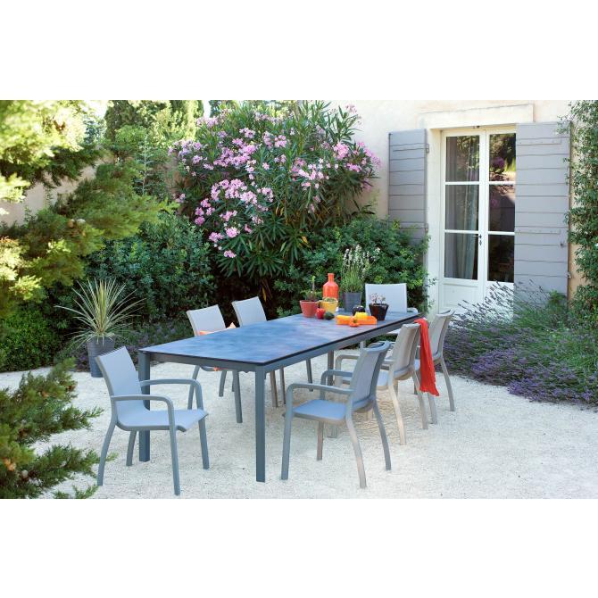 ONDIS24 Deluxe Gartensessel Gartenstuhl Sunset Gastrogeeignet Grau