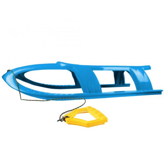ONDIS24 Kinderschlitten Rennrodel Bob Bullet mit Metallkufen blau
