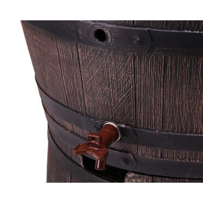 ONDIS24 Regentonne Wasserbehälter Fass Eichenfass 240 L m. Ständer