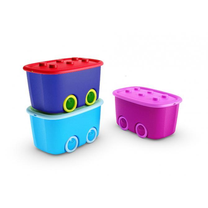 ONDIS24 Spielzeugbox Funny blau rot