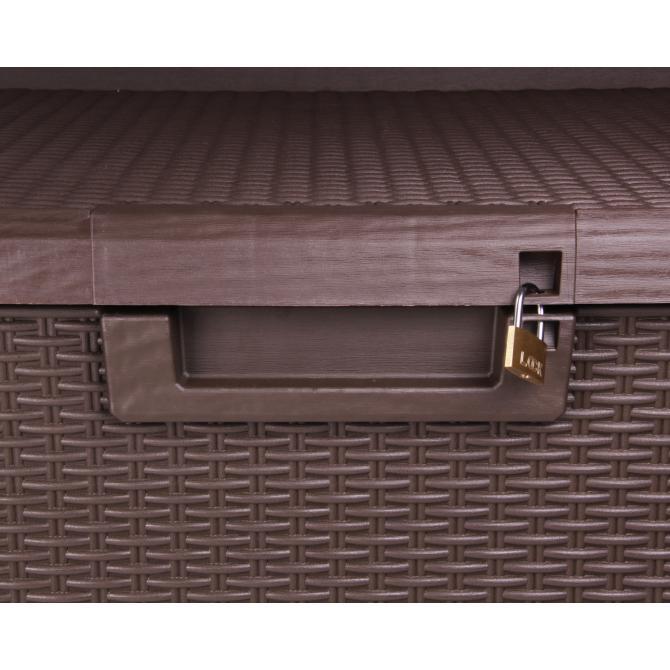 ONDIS24 Kissenbox Sitztruhe Santo 560 L braun