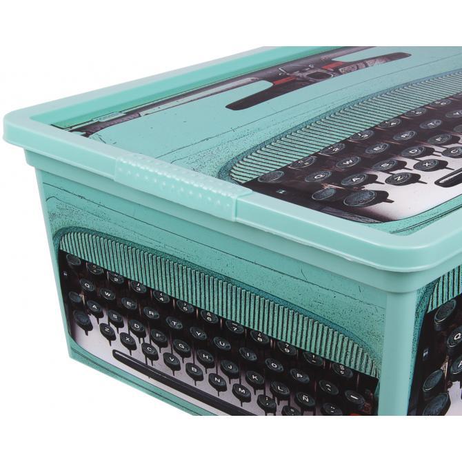 ONDIS24 Aufbewahrungsbox Style S Retro Design Technik mit Deckel