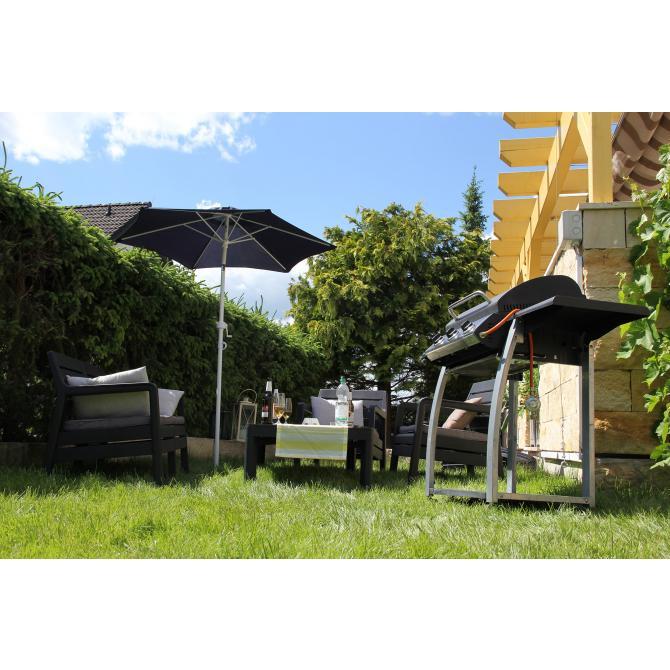 ONDIS24 Marktschirm 180 cm Sonnenschirme mit Kurbel