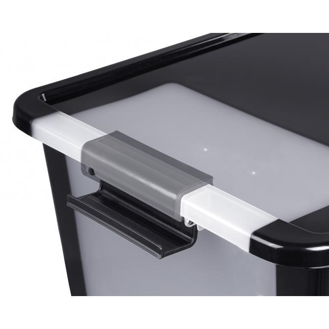 ONDIS24 Aufbewahrungsbox Klipp Box L schwarz