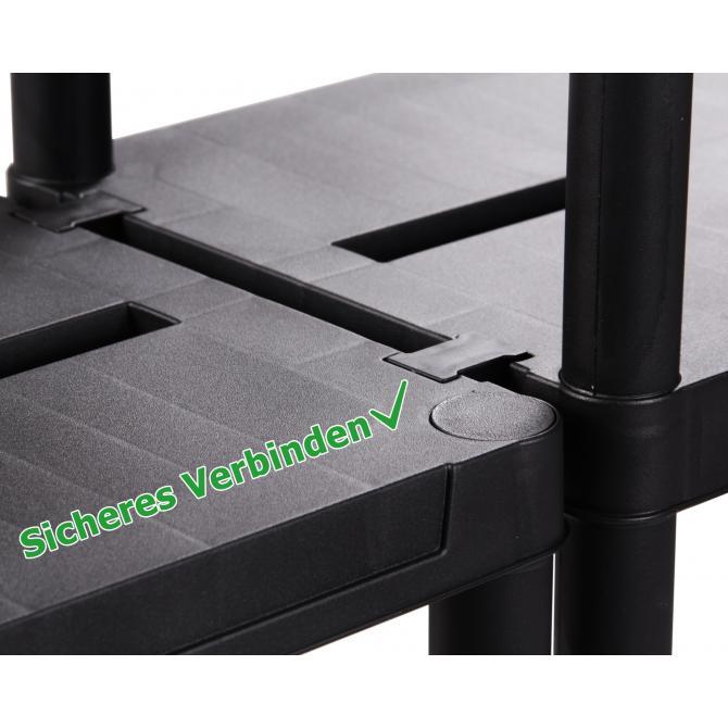 ONDIS24 2 x Kunststoffregal Steckregal 60 x 30 cm