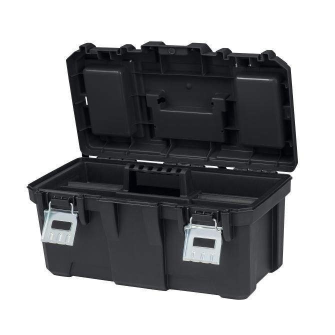 ONDIS24 Keter Werkzeugkasten mit Metallverschluss 19 Zoll 49x26x25cm