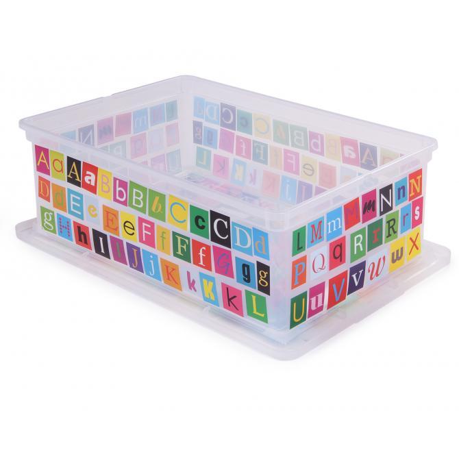 ONDIS24 Aufbewahrungsbox C Box S ABC Design mit Deckel
