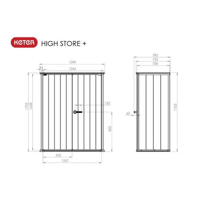 ONDIS24 Keter High Store Geräteschuppen Gartenbox