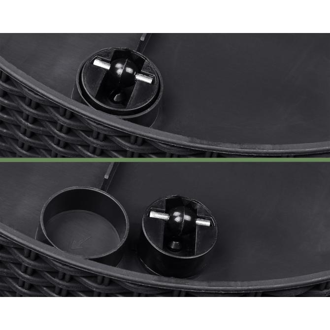 ONDIS24 Keter Konischer Rattan Pflanzkübel aus Kunststoff