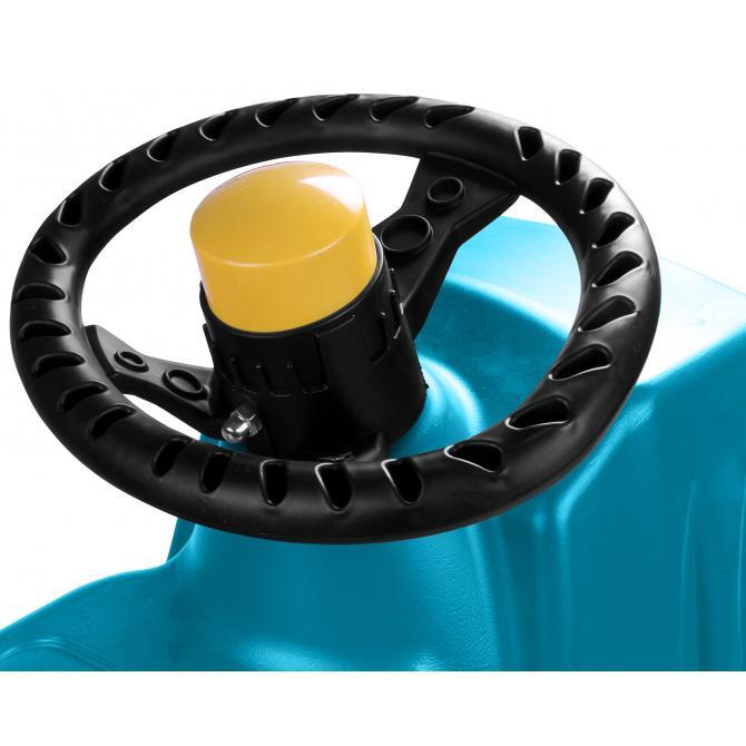 ONDIS24 Lenkschlitten Rennrodel Jepp Control mit Metallkufen blau
