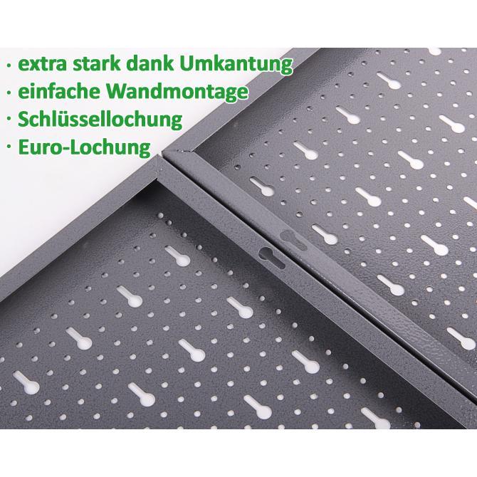 ondis24 lochwand mit metall haken rot g nstig online kaufen. Black Bedroom Furniture Sets. Home Design Ideas