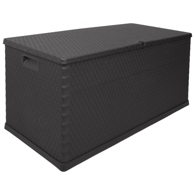 ondis24 kissenbox auflagenbox rattan anthrazit g nstig online kaufen. Black Bedroom Furniture Sets. Home Design Ideas