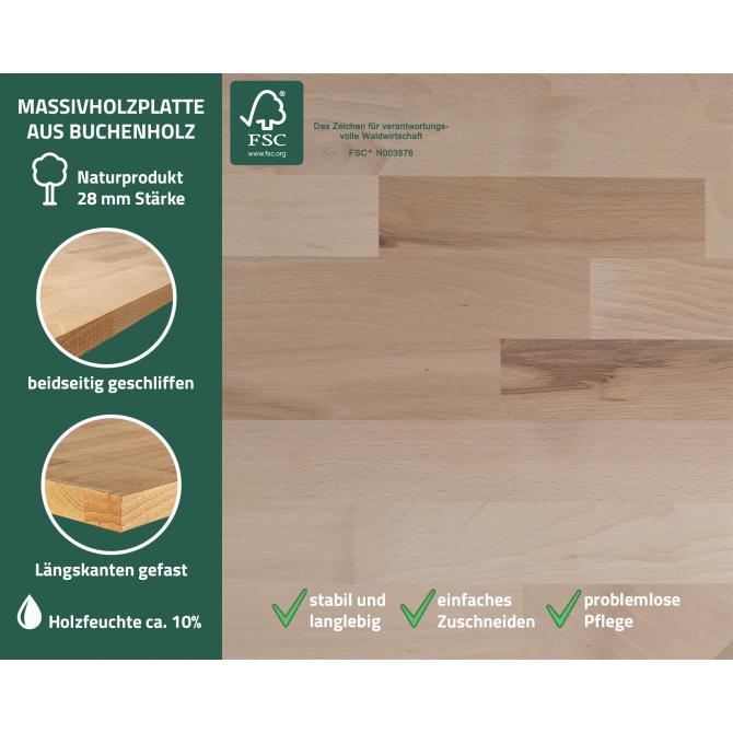 ONDIS24 Werkstatt Set Klaus 240 cm 2 Schränke LED