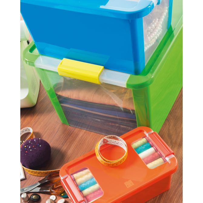 ONDIS24 Aufbewahrungsbox Klipp Box XS blau