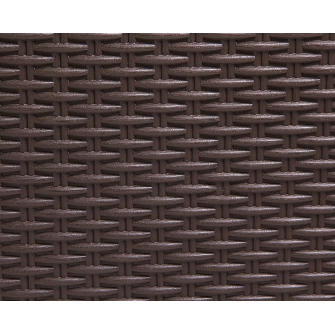 ONDIS24 Kissenbox Auflagenbox Santo Plus mit Sitzkissen 560 L braun