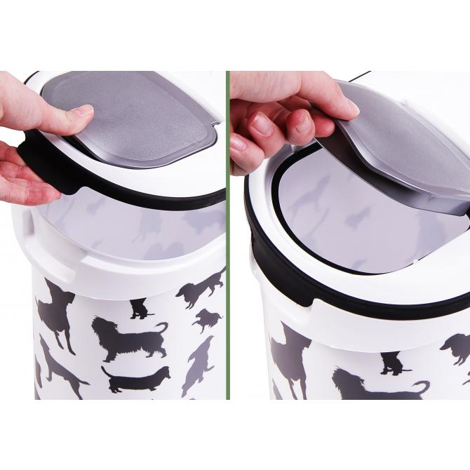 ONDIS24 Curver Futtercontainer Hunde Silhouette 10 L