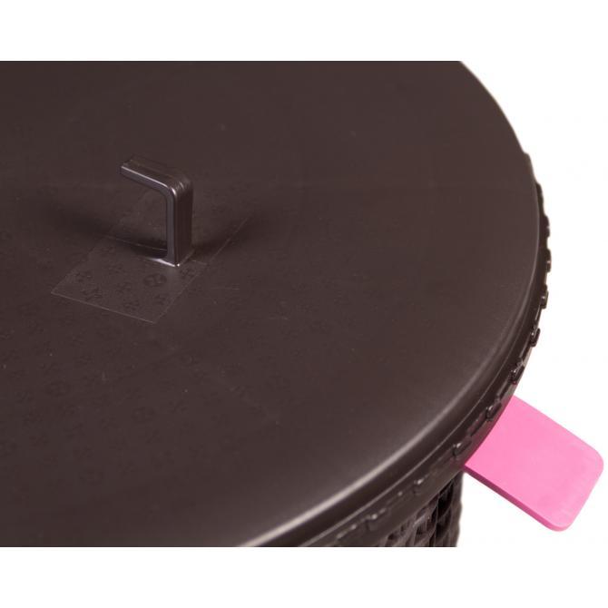 ONDIS24 Rattan Beistelltisch mit Stauraum Cool Stool rund