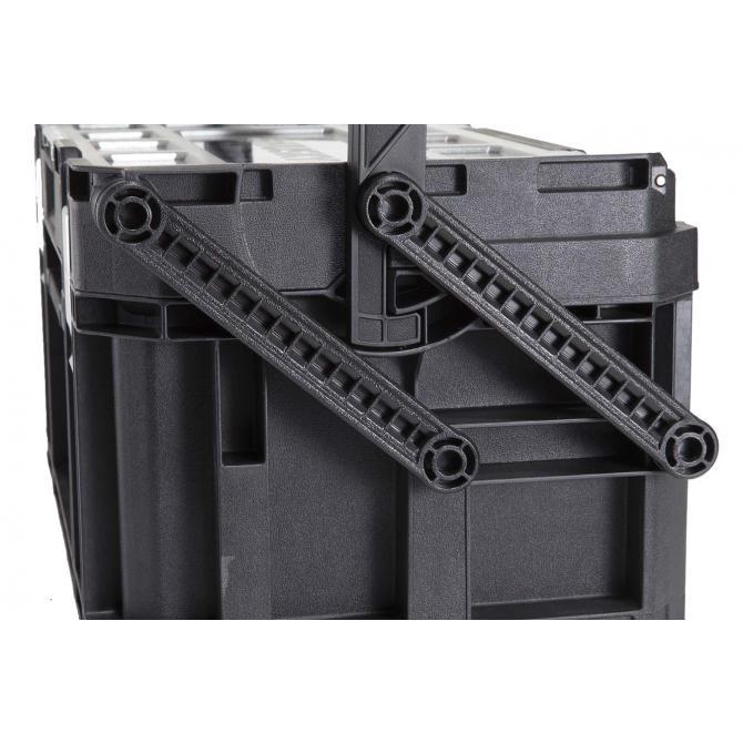 ONDIS24 Keter Connect Cantilever-Sortimentskasten Schwarz 56x32x16cm