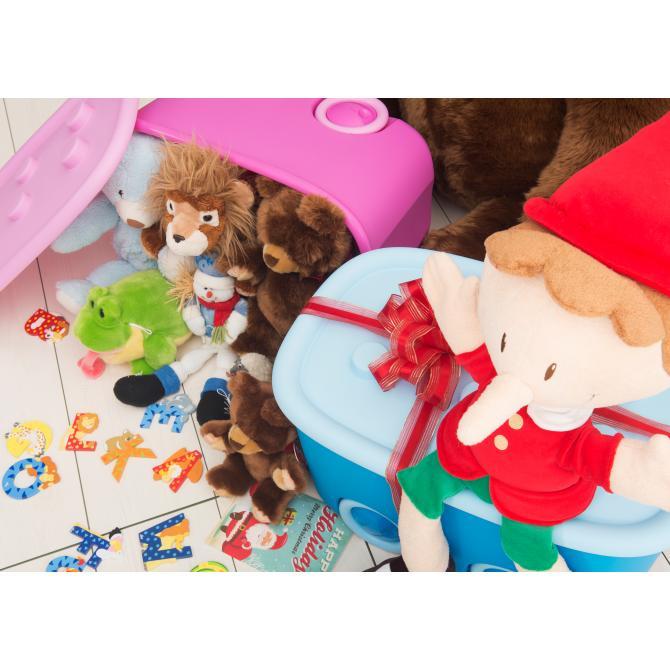 ONDIS24 Spielzeugbox Funny flieder