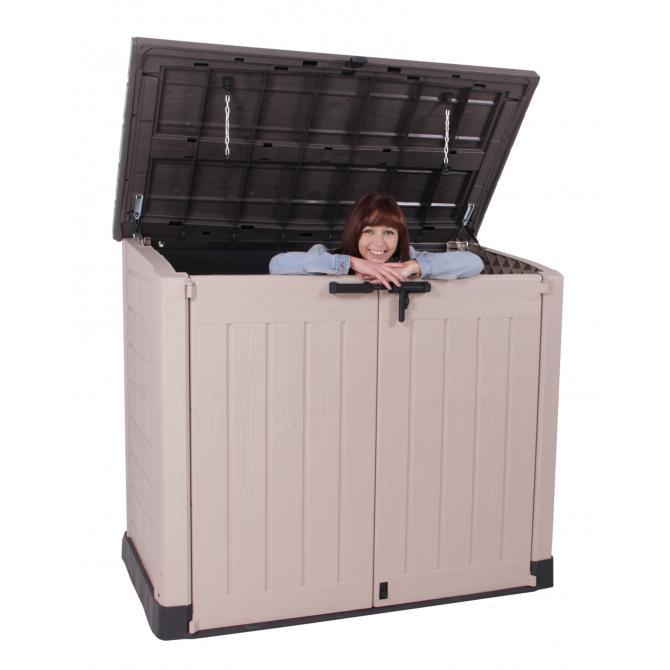 ONDIS24 Keter Geräteschuppen Mülltonnenbox Gartenbox MAX