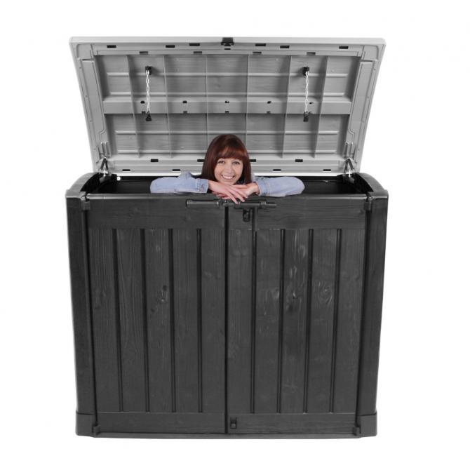 ONDIS24 Keter Mülltonnebox Geräteschuppen Gartenbox ARC anthrazit