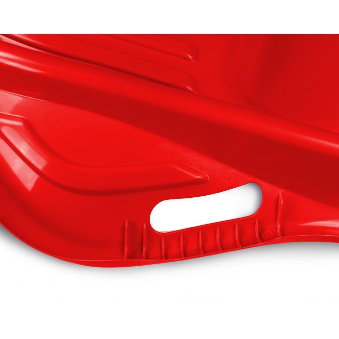 ONDIS24 Schlitten mit Seil und Griff Rodel Bob Kunststoff rot 80 cm