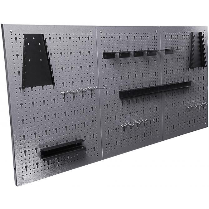 ONDIS24 Werkstatt Set Konny 160 cm 3 Schränke rot
