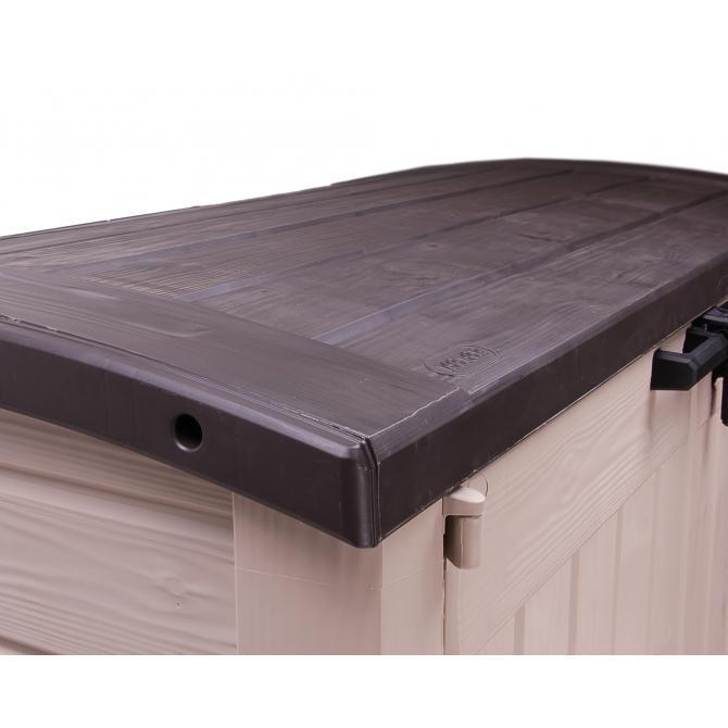 ONDIS24 Keter Mülltonnebox Geräteschuppen Gartenbox ARC beige
