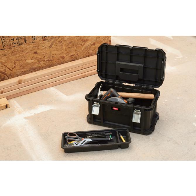ONDIS24 Keter Connect Rolling Werkzeugsystem Schwarz