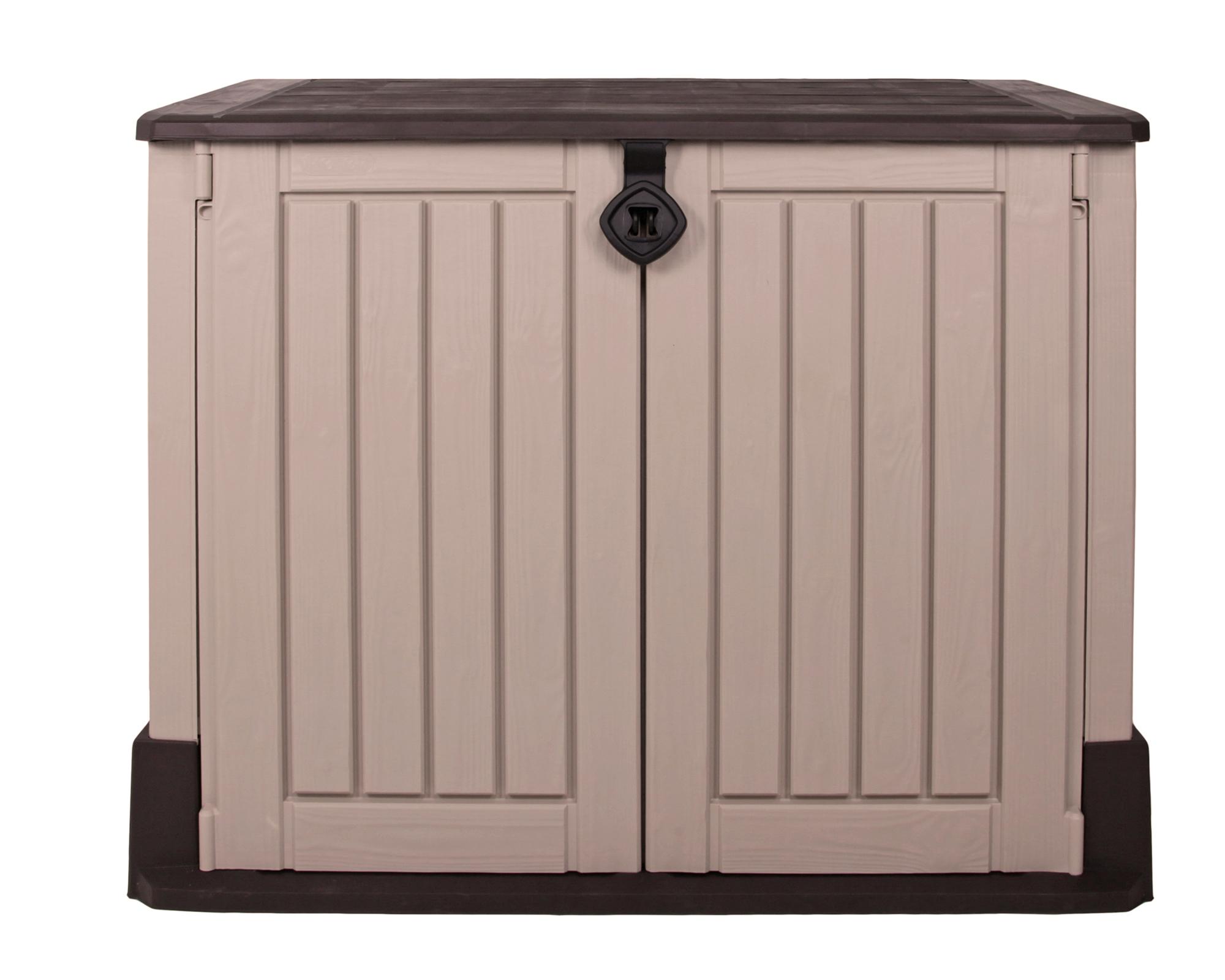 ondis24 keter gerätebox aufbewahrungsschuppen mülltonnenbox woodland