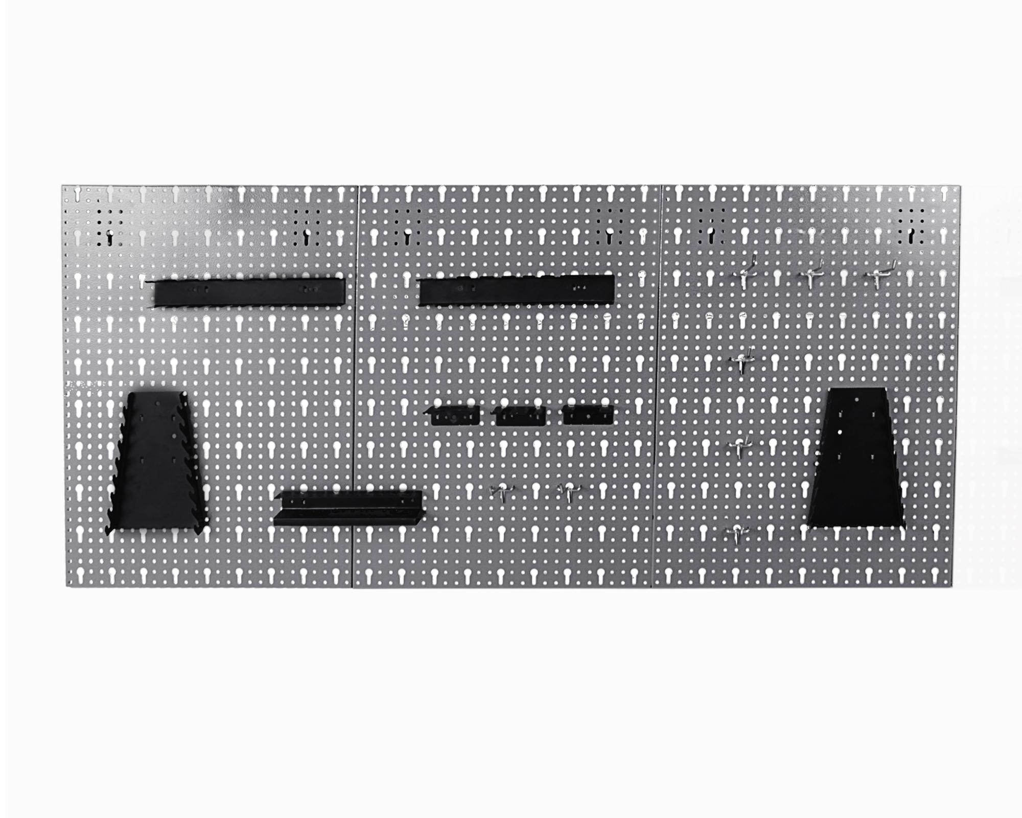ondis24.com | Werkzeugwand Lochwand mit Hakensortiment aus Metall