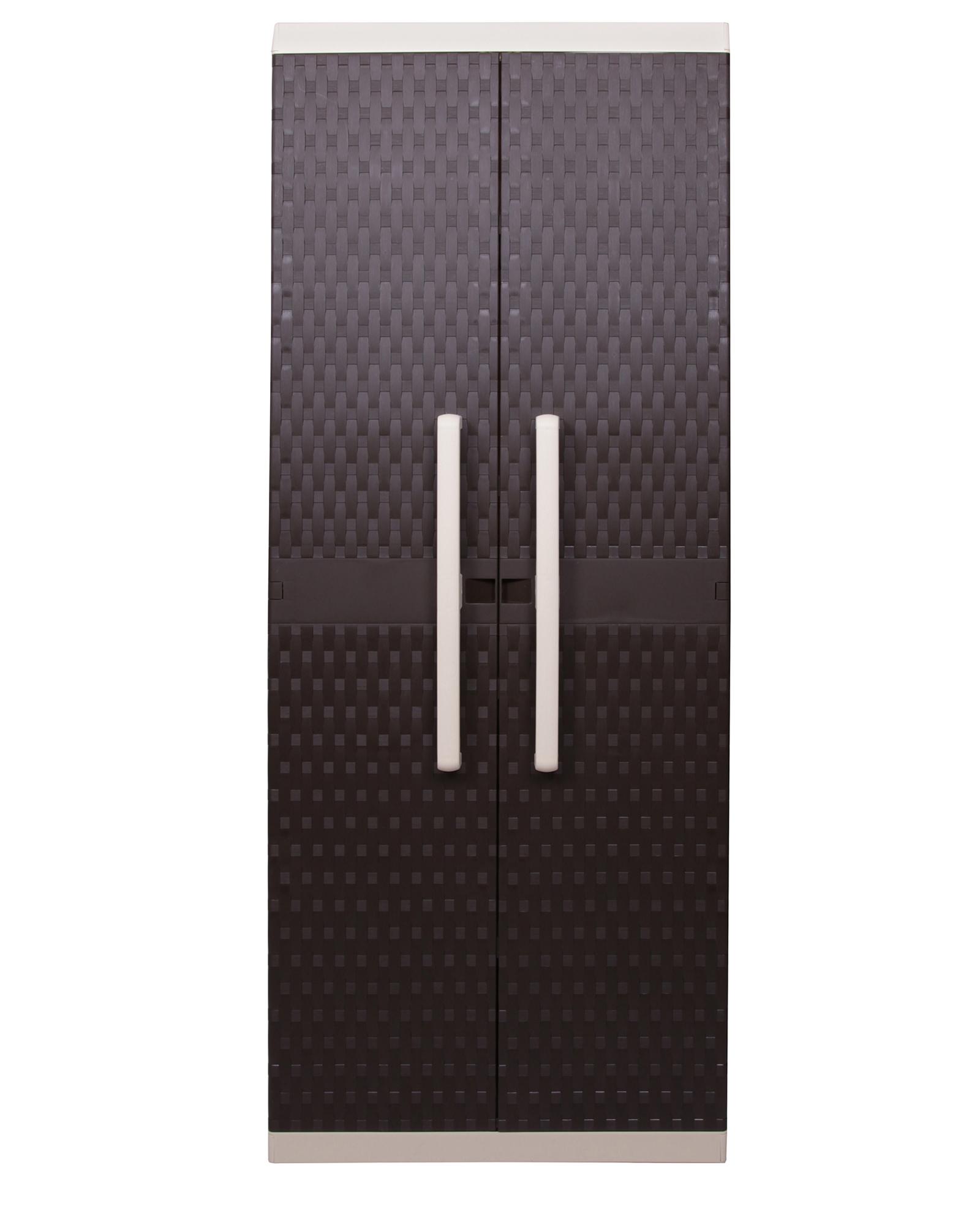 gartenspind kunststoffspindschrank terrassenspind besenschrank rattan m spind ebay. Black Bedroom Furniture Sets. Home Design Ideas