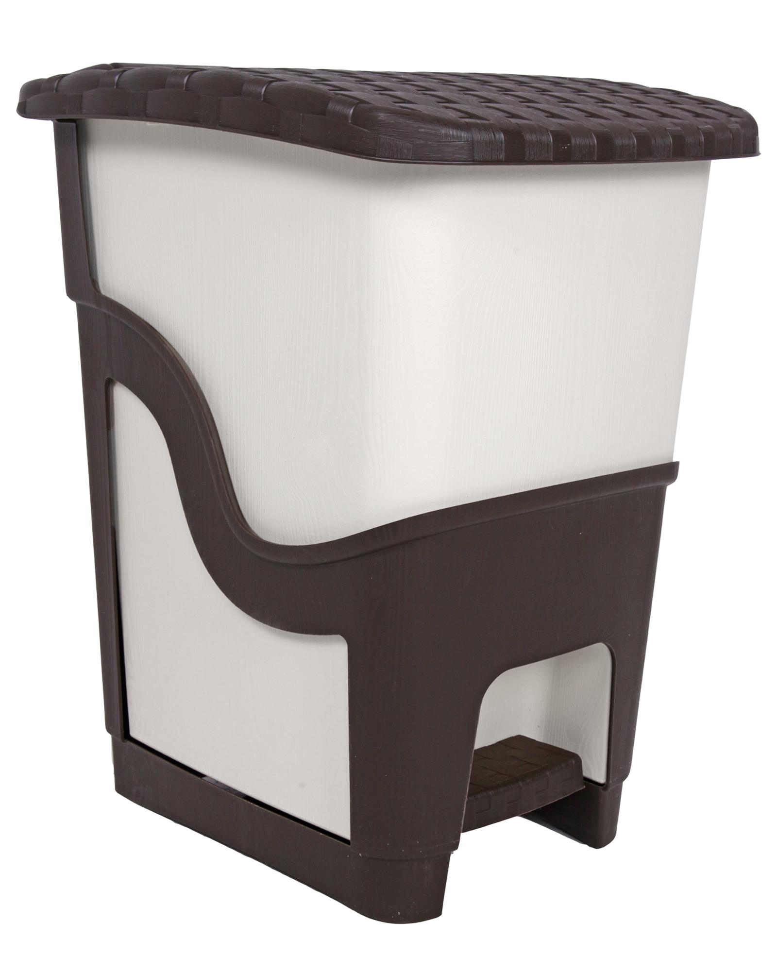 ondis24 m lleimer rattan 18 liter beige braun g nstig. Black Bedroom Furniture Sets. Home Design Ideas