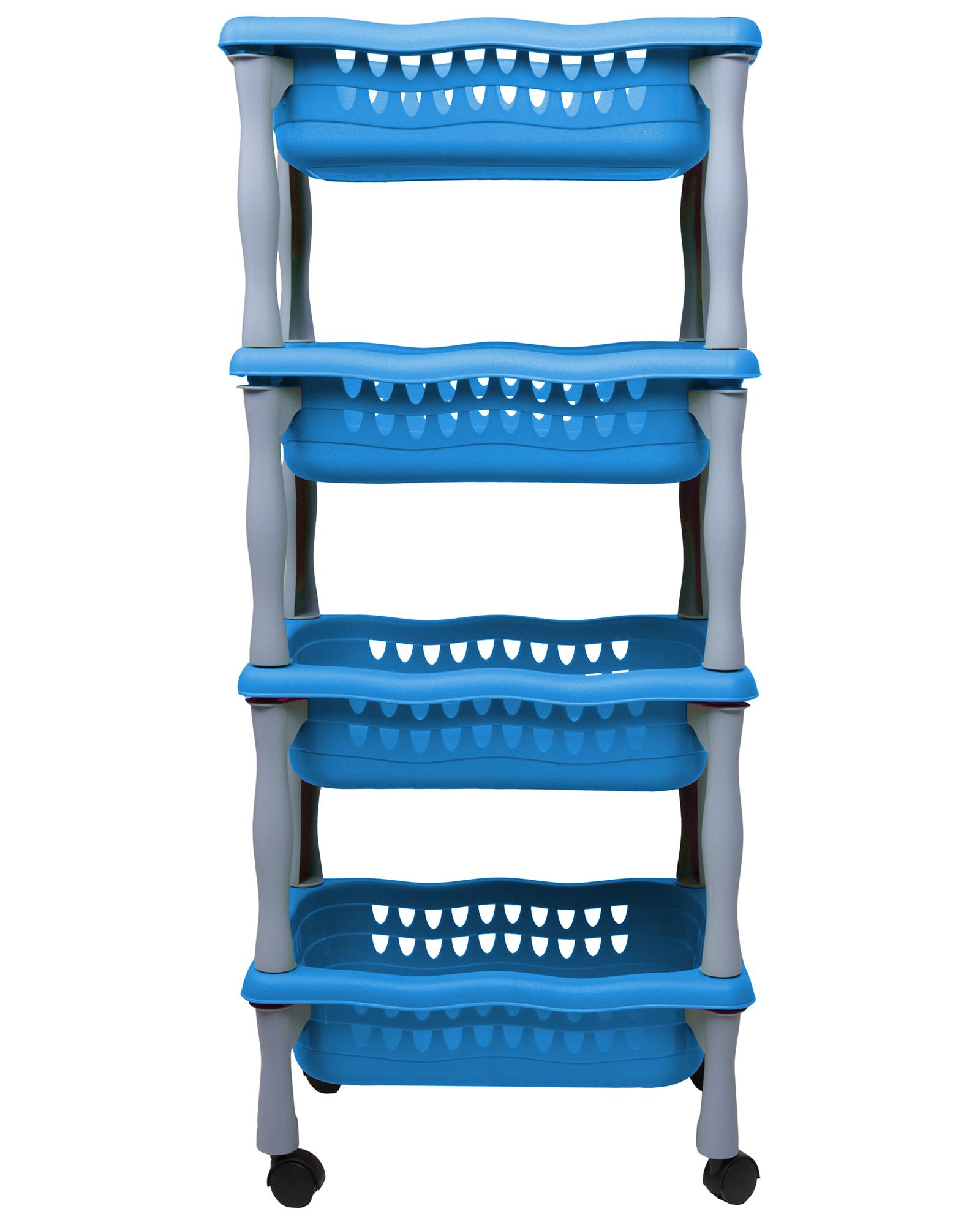 rollwagen korbwagen schreibtischwagen beistellwagen badwagen beng blau neu ebay. Black Bedroom Furniture Sets. Home Design Ideas
