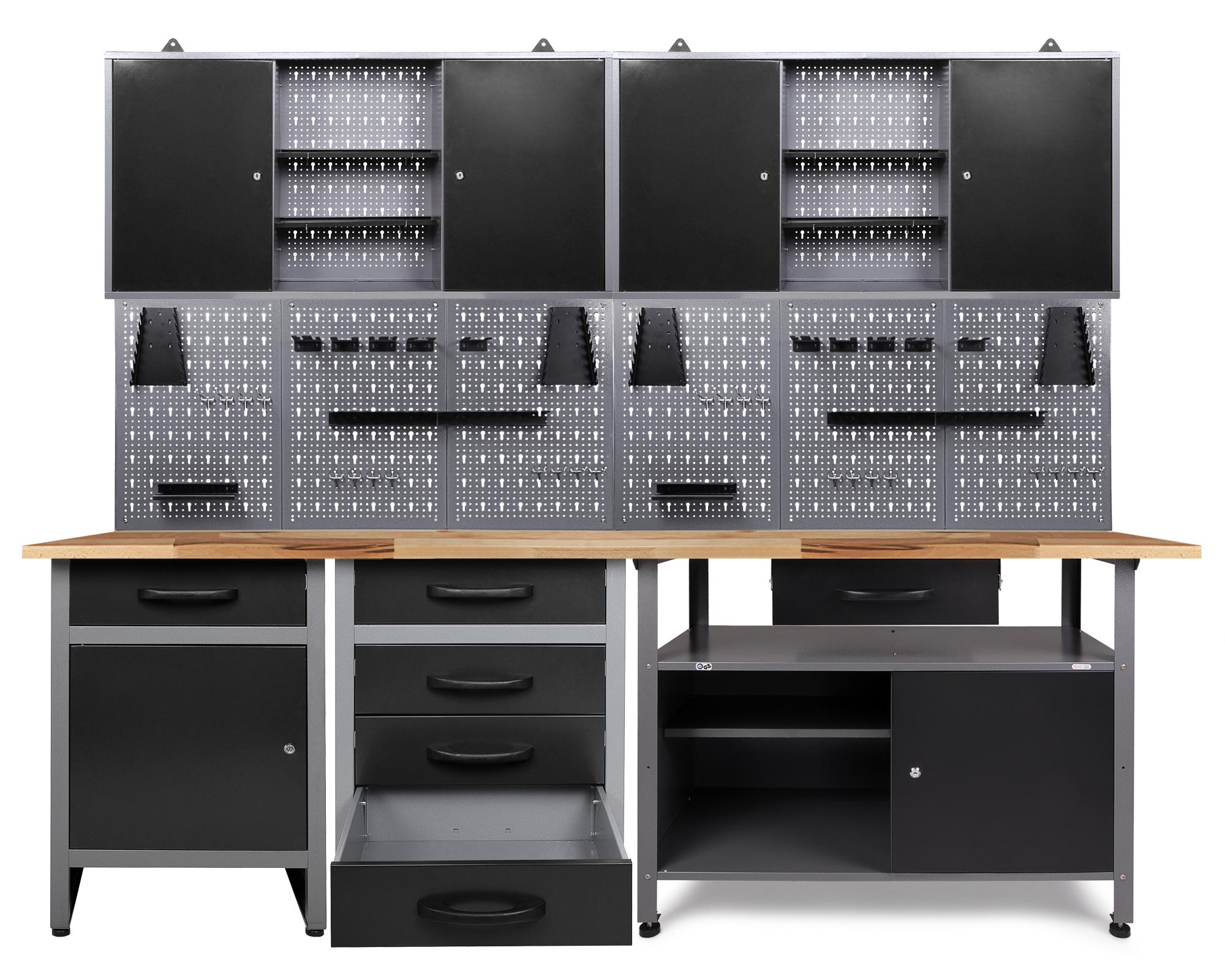 Ondis24 Werkstatt Set Tüftler 240 cm 2 Schränke günstig online kaufen