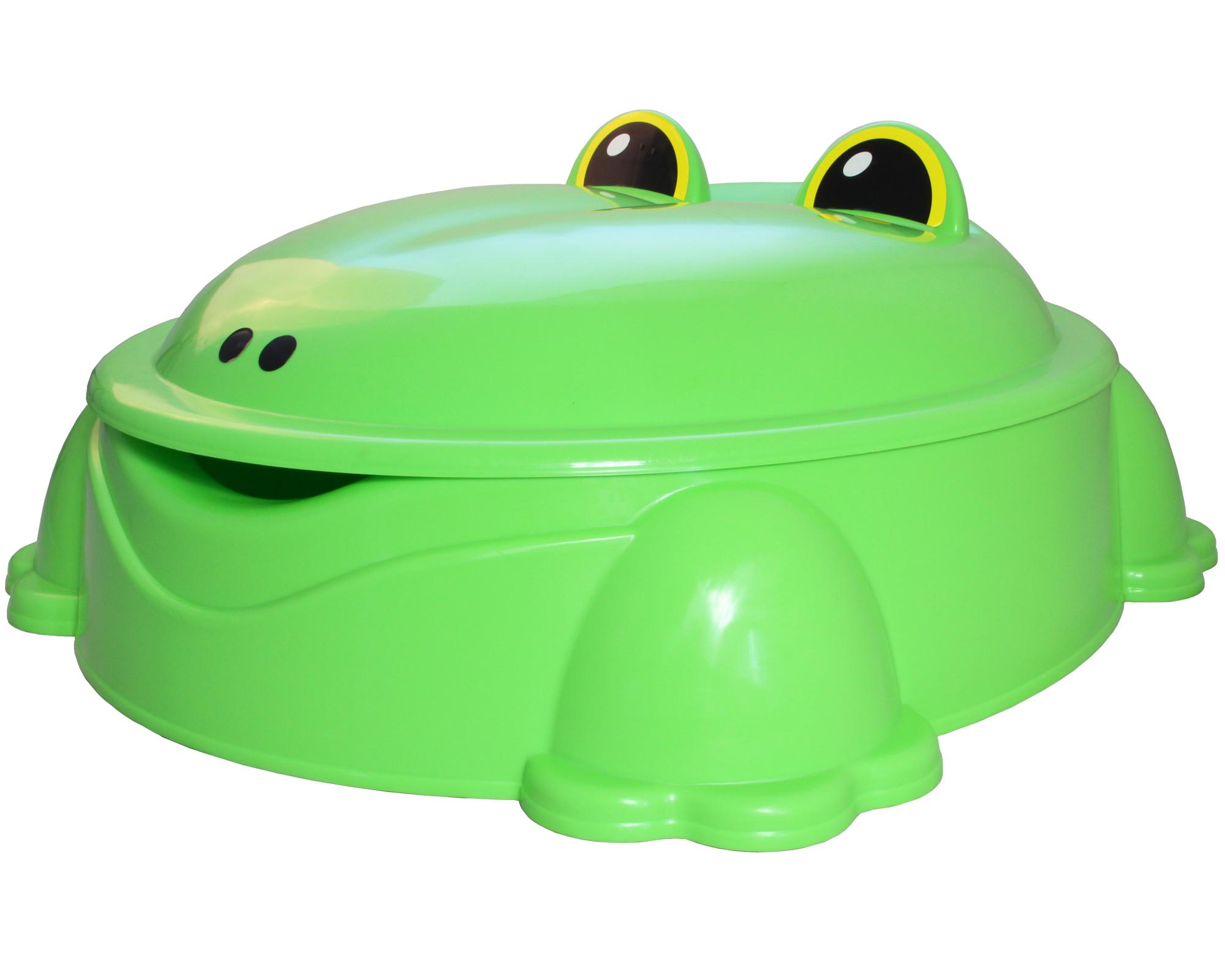 ondis24 sandkasten planschbecken freddy der frosch mit deckel g nstig online kaufen. Black Bedroom Furniture Sets. Home Design Ideas