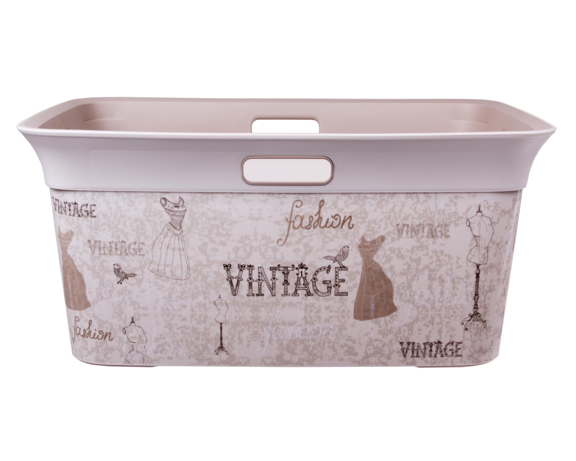 Wäschekorb Vintage ondis24 wäschekorb tragekorb moda vintage 45 l günstig kaufen