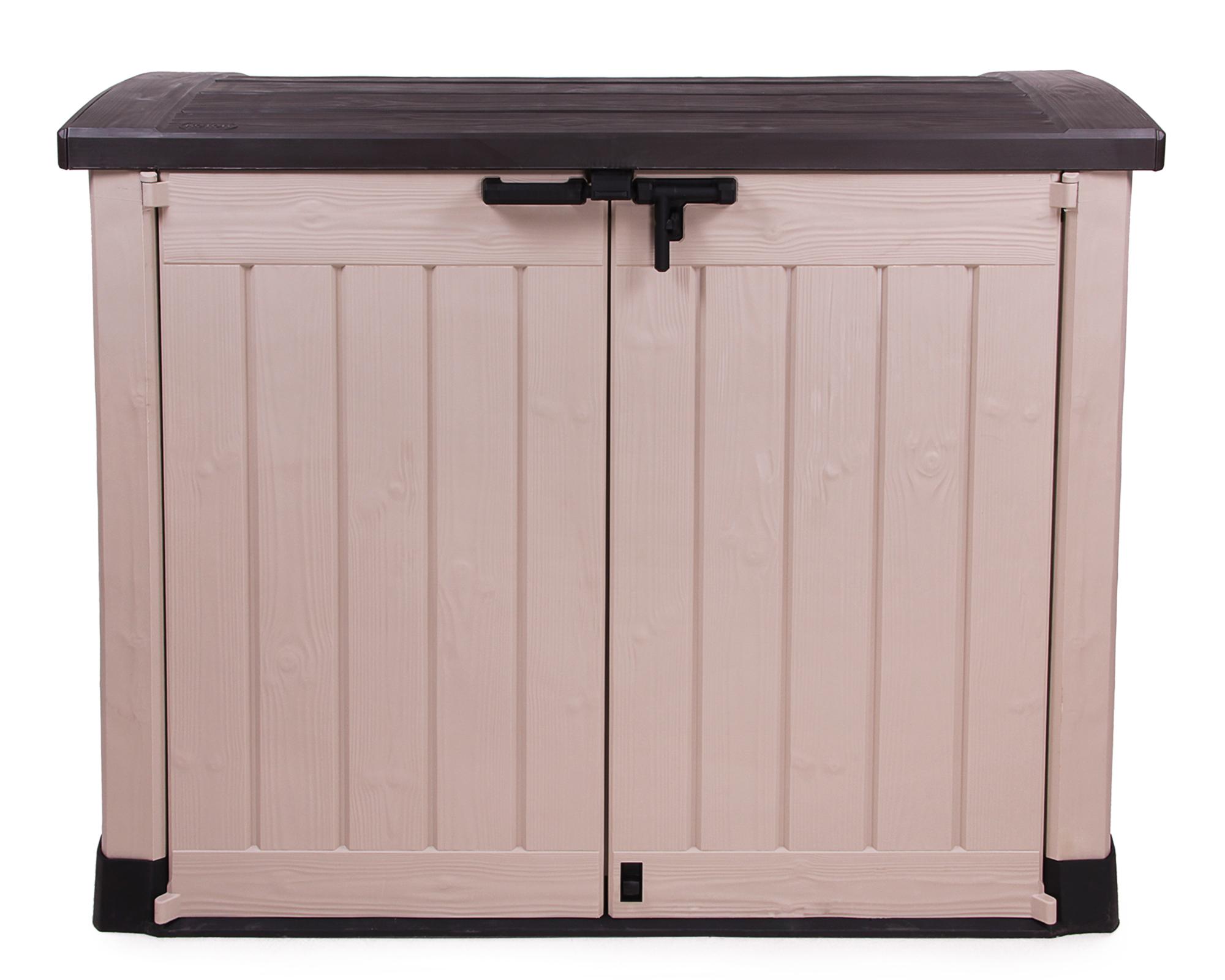 ondis24 keter m lltonnebox ger teschuppen gartenbox arc beige g nstig online kaufen. Black Bedroom Furniture Sets. Home Design Ideas