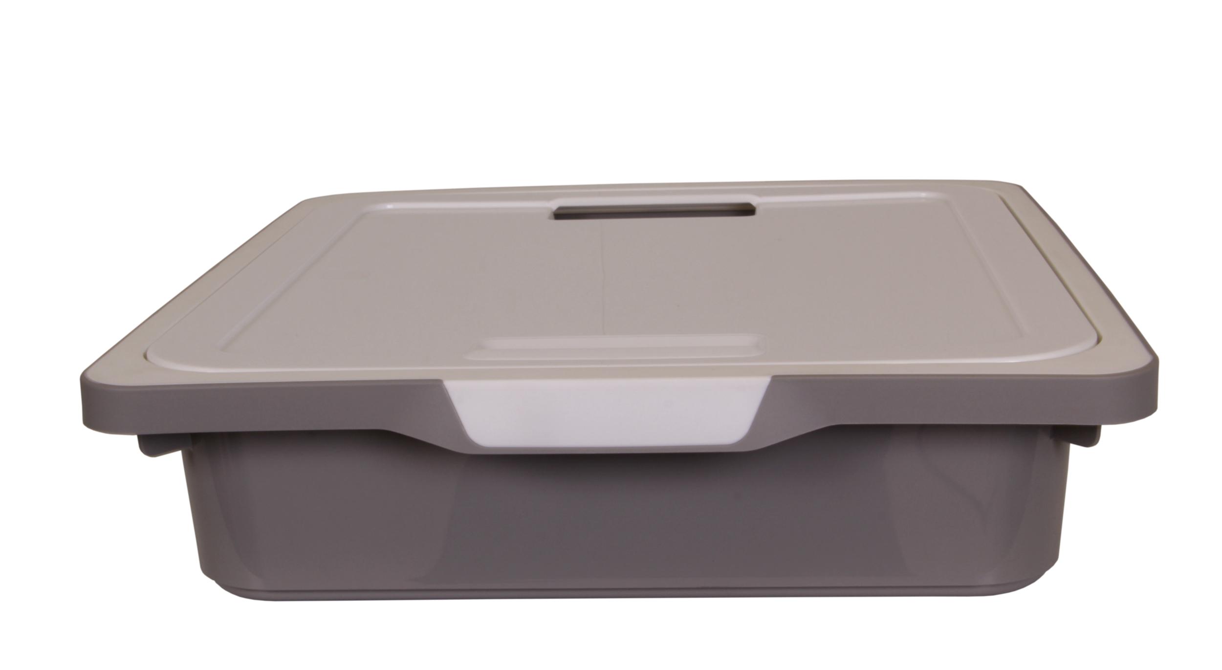 ondis24 kreo box mit deckel 7 5 liter grau wei g nstig. Black Bedroom Furniture Sets. Home Design Ideas