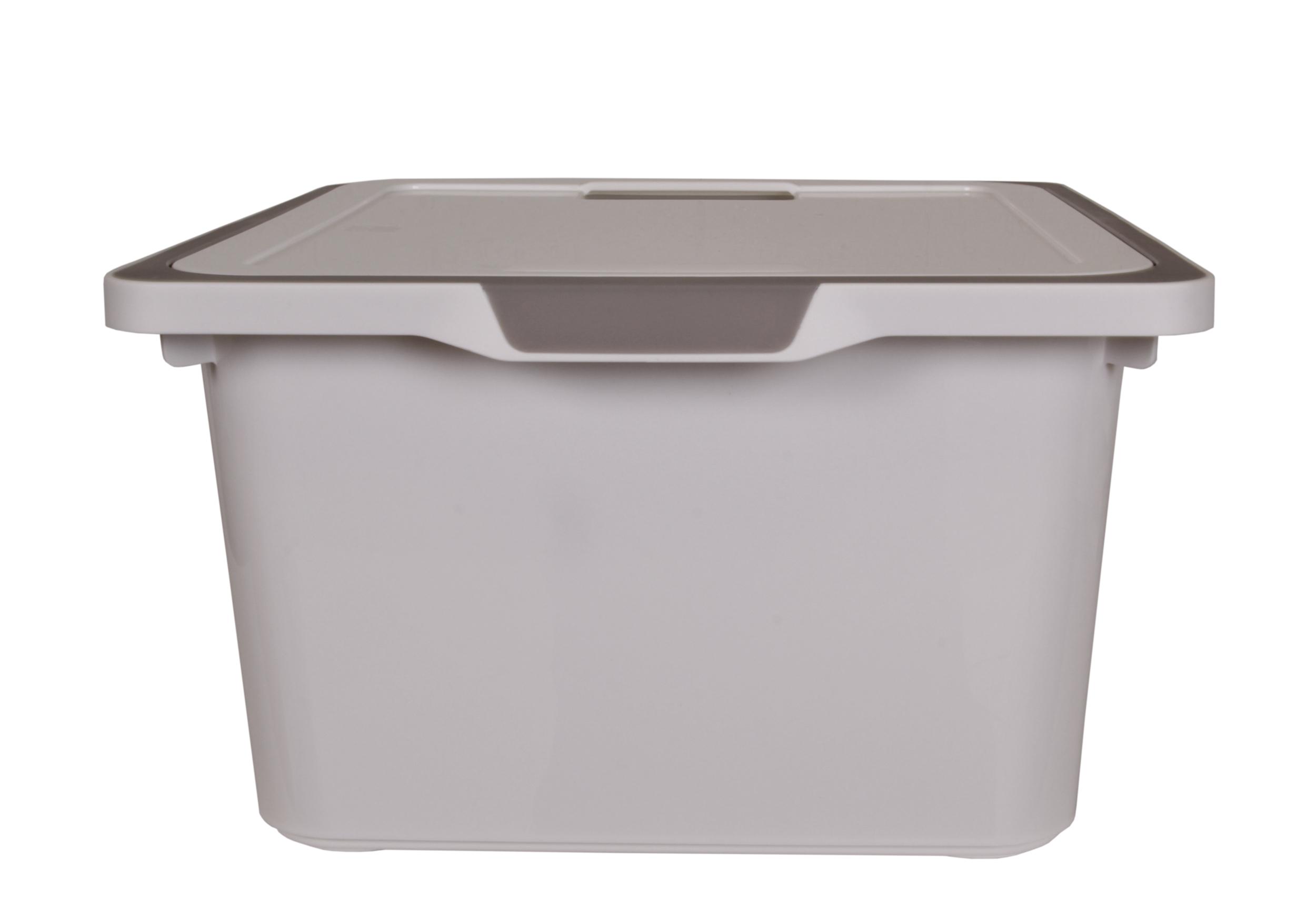 ondis24 kreo box mit deckel 17 5 liter wei grau g nstig online kaufen. Black Bedroom Furniture Sets. Home Design Ideas