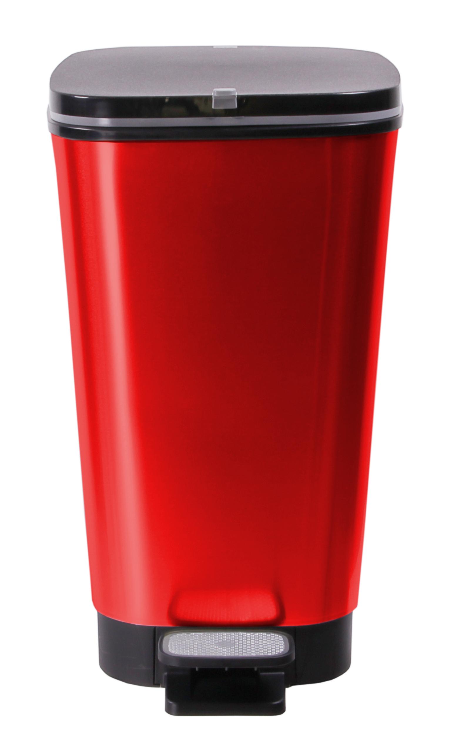 TW24 Abfalleimer 25L mit Farbwahl Abfallbeh/älter Kunststoff M/ülleimer Abfallbeh/älter mit Deckel M/üllsammler Beige