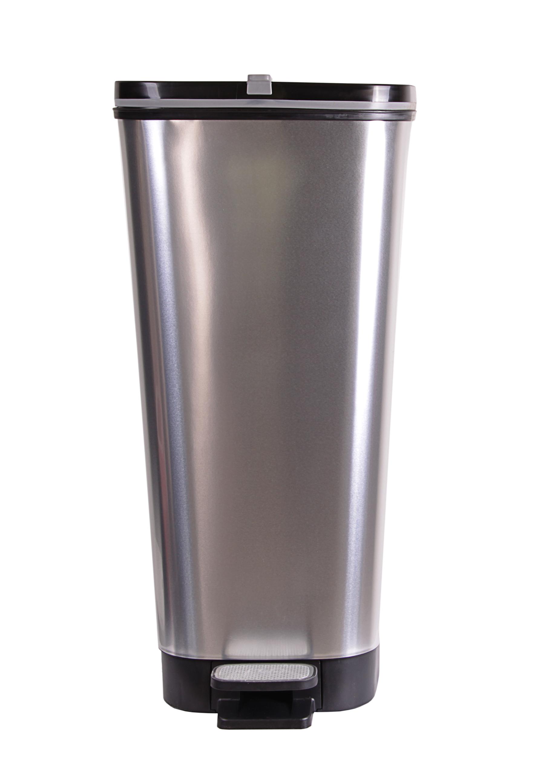 ondis24 abfalleimer m lleimer chic silber 45 liter g nstig online kaufen. Black Bedroom Furniture Sets. Home Design Ideas