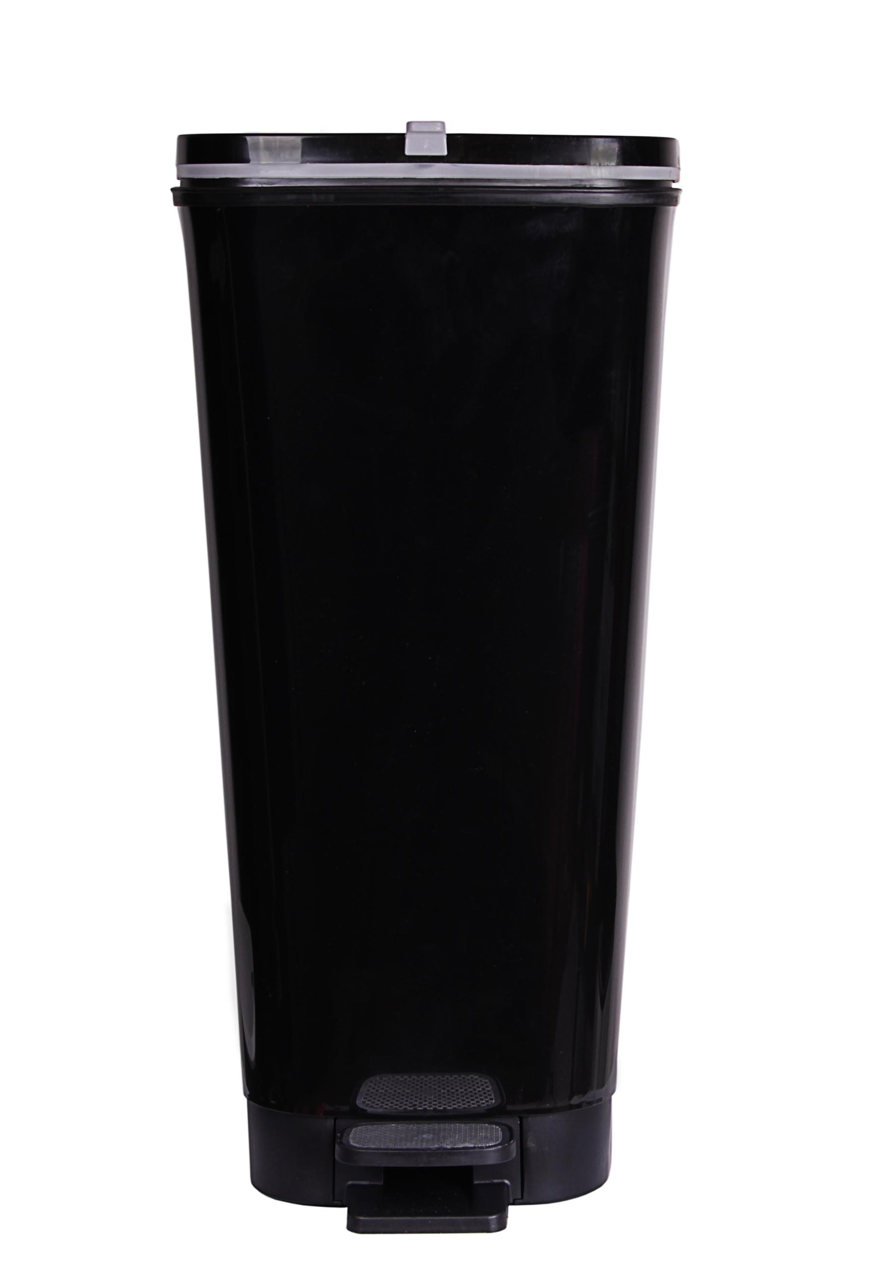 ondis24 abfalleimer m lleimer chic schwarz 45 liter. Black Bedroom Furniture Sets. Home Design Ideas