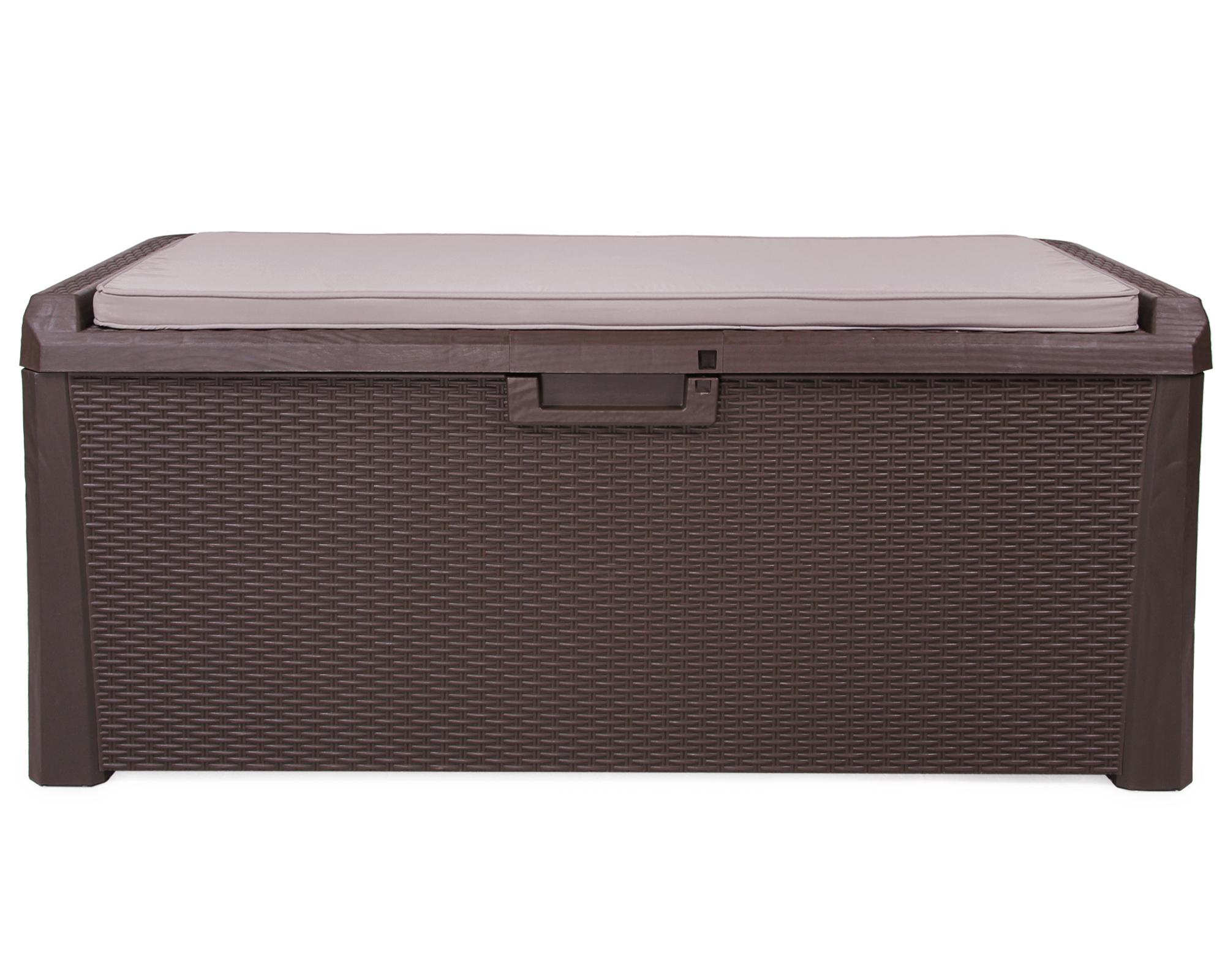 famous auflagenbox rattan braun qz34 kyushucon. Black Bedroom Furniture Sets. Home Design Ideas