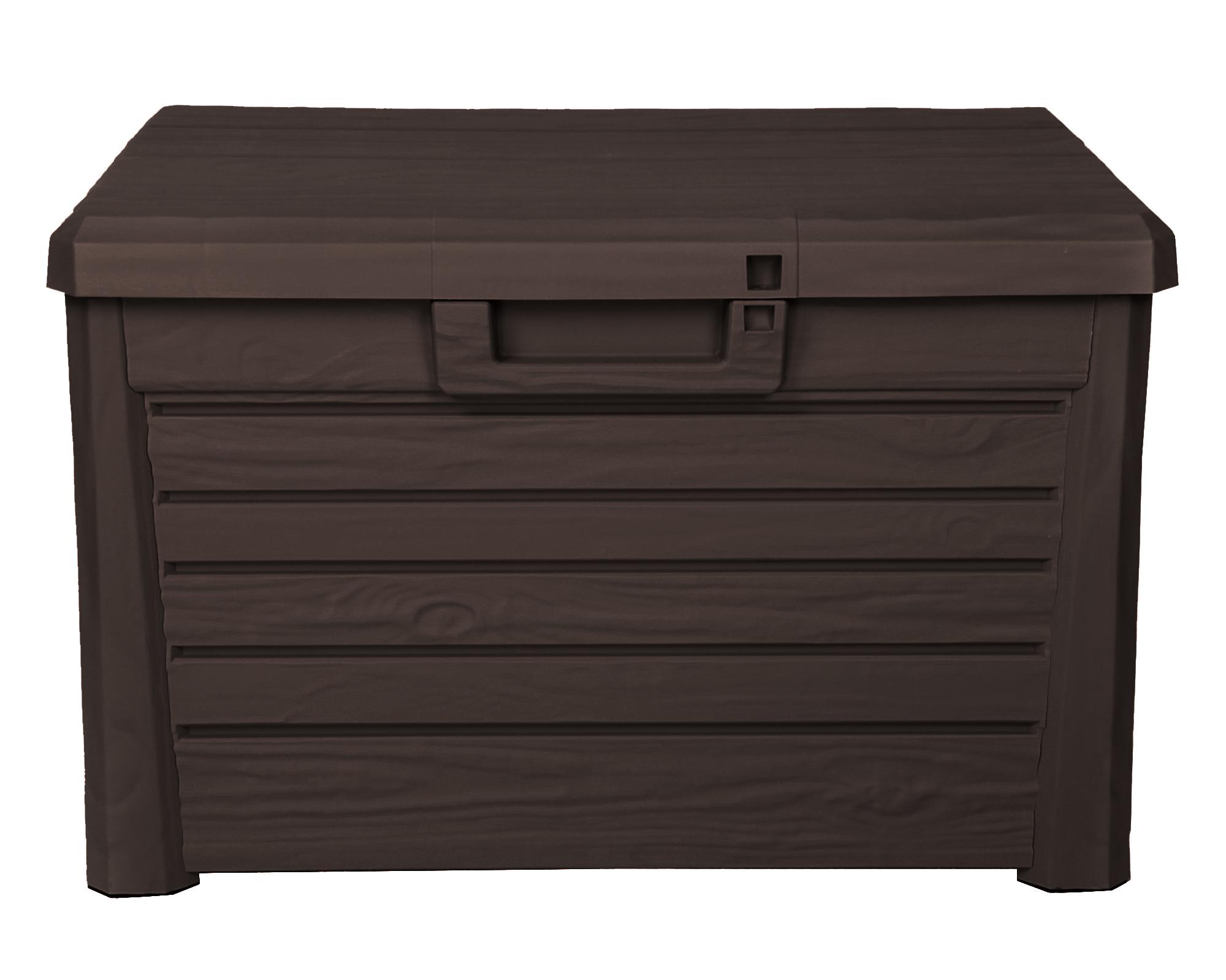 ondis24 kissenbox sitztruhe florida kompakt 120 l braun g nstig online kaufen. Black Bedroom Furniture Sets. Home Design Ideas
